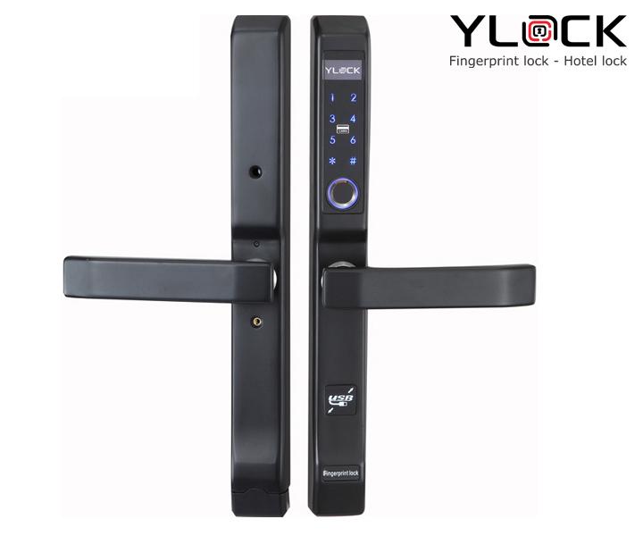 Khóa cửa điện tử YLOCK YL-3368-B (Vân tay, Thẻ từ, Mật mã)