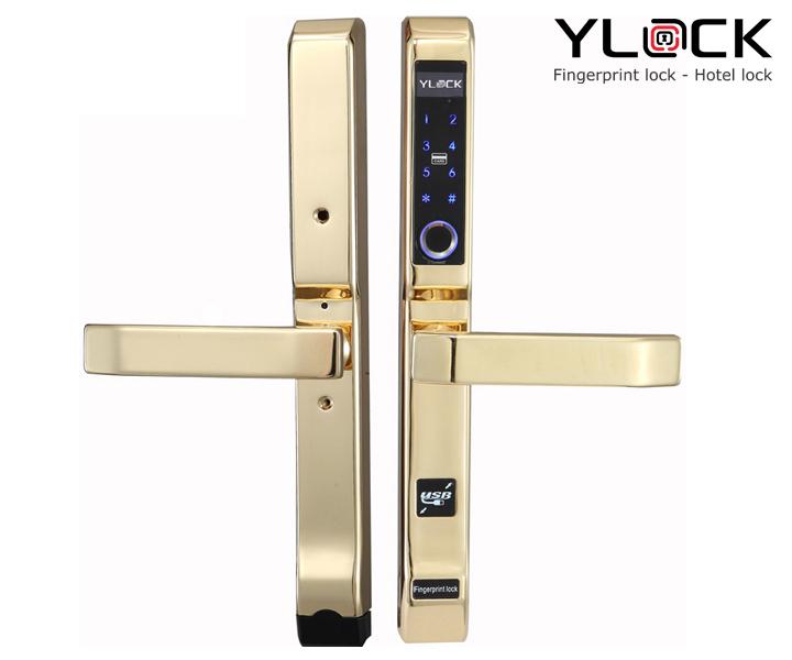 Khóa cửa điện tử YLOCK YL-3368-G (Vân tay, Thẻ từ, Mật mã)