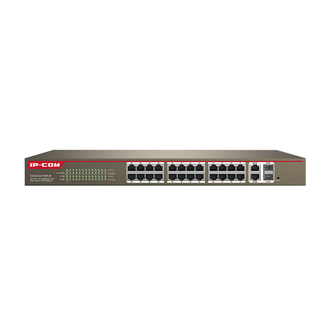 Switch IP-COM POE S3300-26-PWR-M