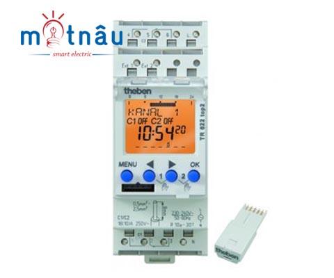Công tắc hẹn giờ kỹ thuật số Theben TR 622 Top2 (2 output)