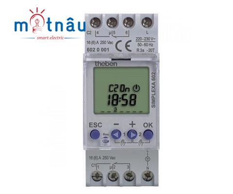Công tắc hẹn giờ kỹ thuật số Theben Simplexa-602