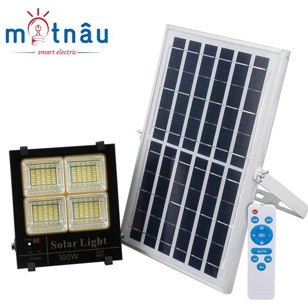 Đèn led năng lượng mặt trời VR88100-L3M (100w), 3 chế độ màu