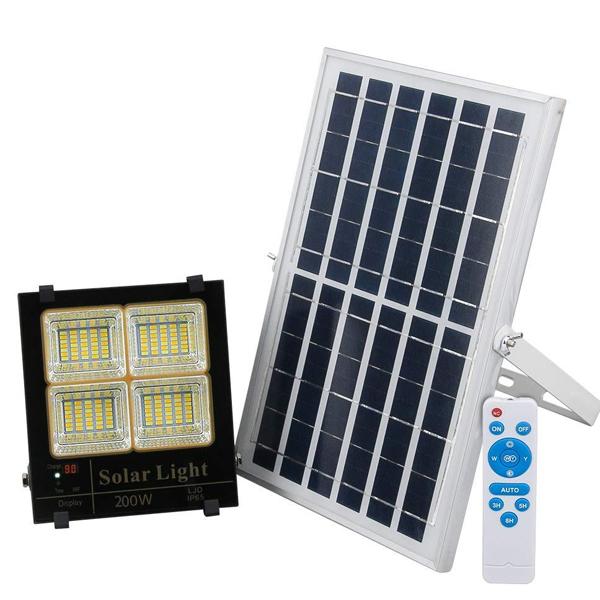 Đèn led năng lượng mặt trời VR88200-L3M (200w), 3 chế độ màu
