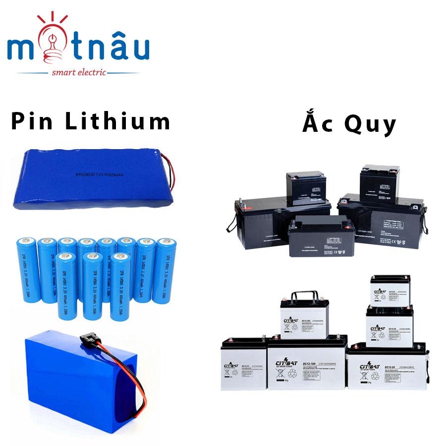 Pin dữ trữ và ắc quy dùng cho đèn năng lượng mặt trời