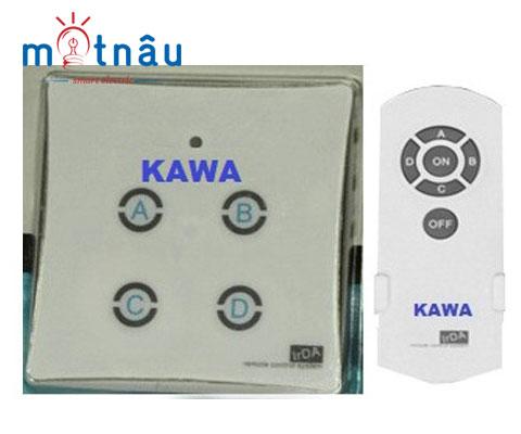 Công tắc điều khiển từ xa 4 nút âm tường Kawa DK04S