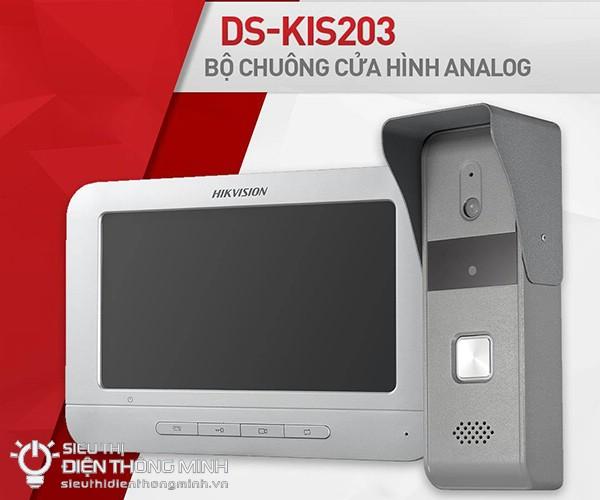 Bộ chuông cửa có hình HIKVISION DS-KIS203 (nút nhấn hợp kim)