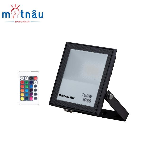 Đèn pha led đổi màu FL100W-RGB2