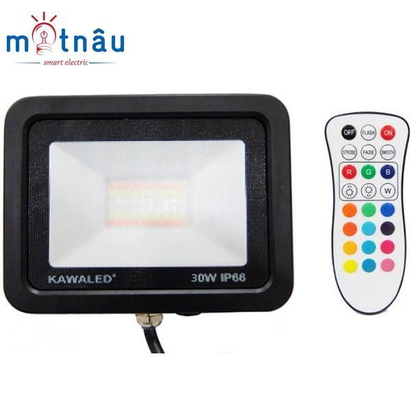 Đèn pha led đổi màu FL30W-RGB