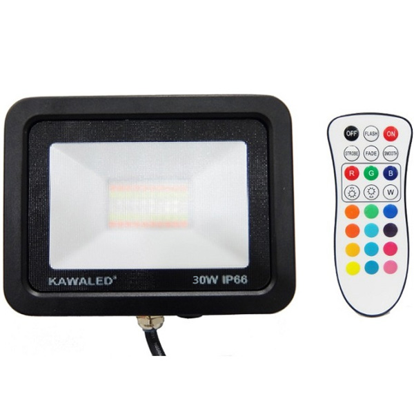 Đèn pha led đổi màu FL30W-RGB