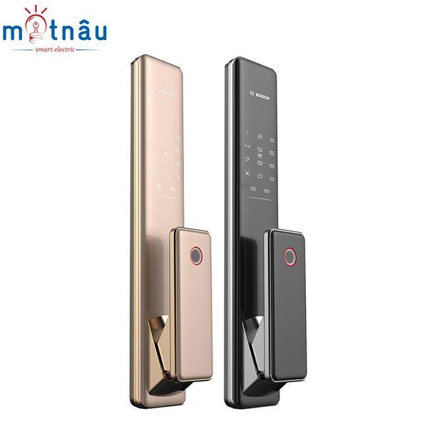 Khóa cửa điện tử Bosch FU780 : Vân tay - Mật khẩu - Thẻ từ - Chìa cơ