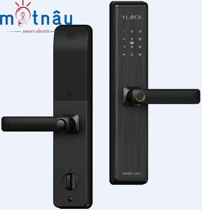 Khóa điện tử YLOCK YL-8882-B ( Vân Tay, thẻ từ, mật mã, chìa cơ)