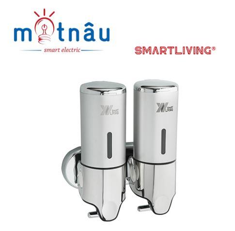 Bình đựng xà phòng đôi Smartliving YM01-2