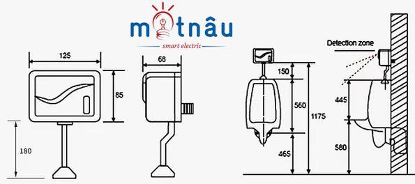 Sơ đồ hướng dẫn lắp đặt van xả tiều cảm ứng smartliving ym301