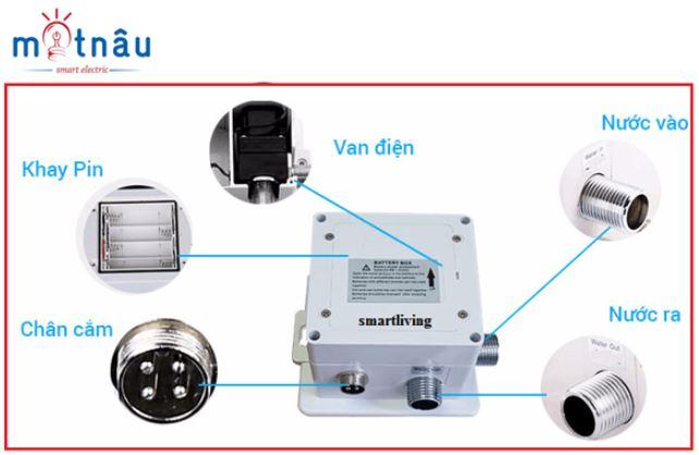 sơ đồ hướng dẫn lắp vòi cảm ứng lavabo smartliving ym101