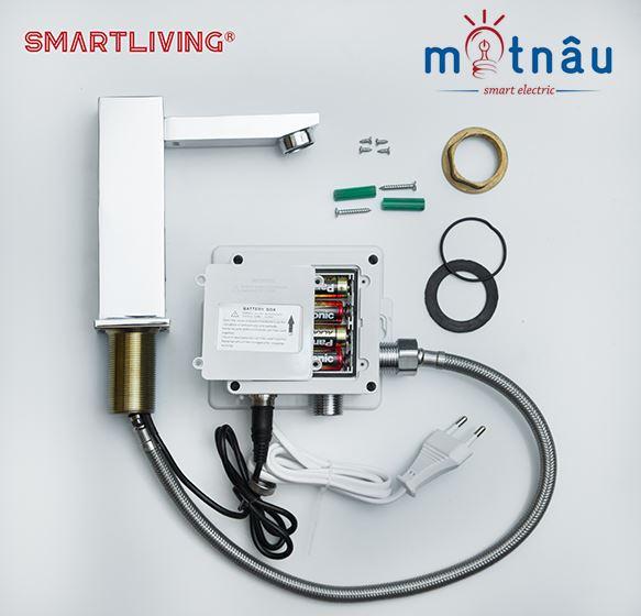 trọn bộ vòi cảm ứng lavabo smartliving ym102 giá tốt