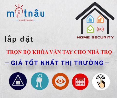Lắp đặt khóa cổng vân tay cho nhà trọ tại TP.HCM