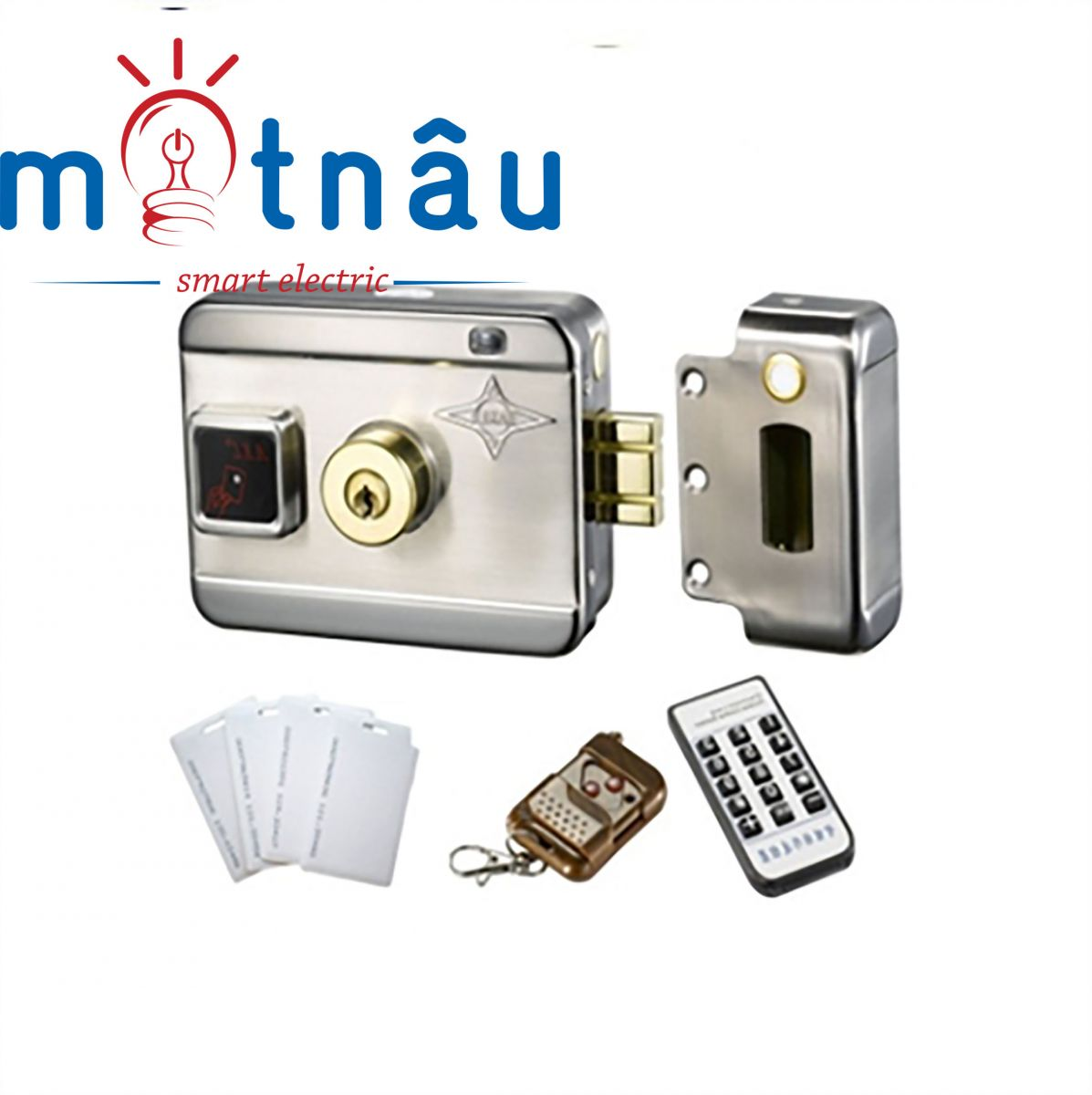Khóa cổng điện tử dùng remote, thẻ từ, khóa cơ VR-1200
