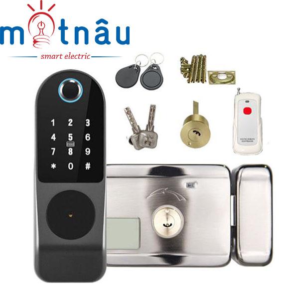 Khóa cổng điện tử Vân tay, mật mã, thẻ từ, remote, quản lý trên điện thoại VR-1200C
