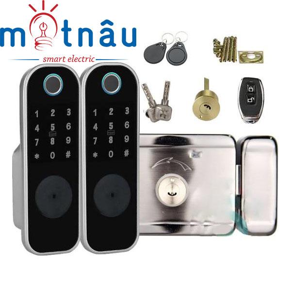 Khóa cổng điện tử dùng vân tay, mã số, thẻ từ, khóa cơ, wifi (tùy chọn) Viro VR-1200B